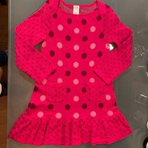 Gymboree Sweet Music Sz 5T Pink Polka Dot Dress
